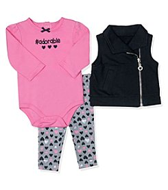 Baby Essentials® Baby Girls' 3-Piece #Adorable Vest Set