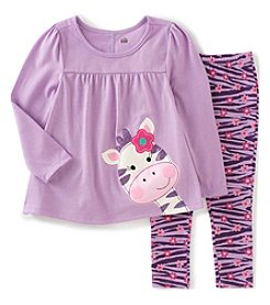 Kids Headquarters® Baby Girls' 2-Piece Zebra Tunic And Leggings Set