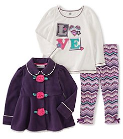 Kids Headquarters® Baby Girls' 3-Piece Love Jacket Set
