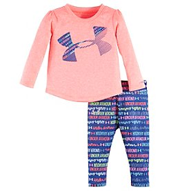 Under Armour® Baby Girls' 2-Piece All Over Logo Tee Set