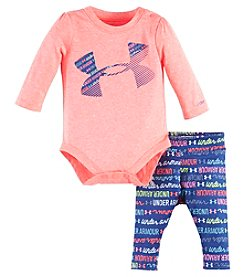 Under Armour® Baby Girls' 2-Piece All Over Logo Bodysuit Set