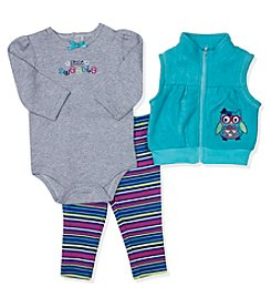 Baby Essentials® Baby Girls' 3-Piece Little Sweetie Vest Set