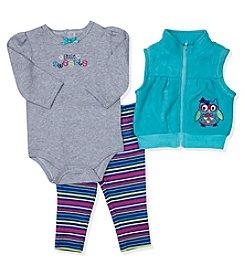 Baby Essentials® Baby Girls' 3-Piece Little Sweetie Vest Set
