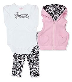 Baby Essentials® Baby Girls' 3-Piece Mommy's Princess Vest Set