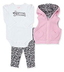 Baby Essentials® Baby Girls' 3-Piece Mommy's Princess Vest Set