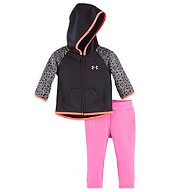 Under Armour® Baby Girls' 2-Piece Chain Grid Shimmer Hoodie Set