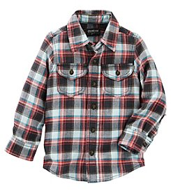 OshKosh B'Gosh® Boys' 4-7 Long Sleeve Plaid Shirt