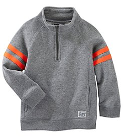 OshKosh B'Gosh® Boys' 2T-7 Quarter Zip Varsity Striped Pullover