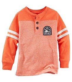 OshKosh B'Gosh® Boys' 2T-7 Long Sleeve Varsity Striped Henley Tee