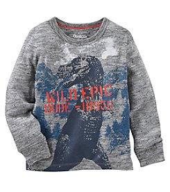 OshKosh B'Gosh® Boys' 2T-7 Long Sleeve Dinosaur Tee