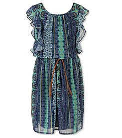Speechless® Girls' 7-16 Plus Ruffle Sleeve Boho Dress