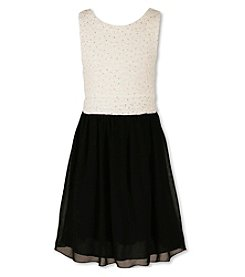 Speechless® Girls' 7-16 Plus Jeweled Lace Fit And Flare Dress