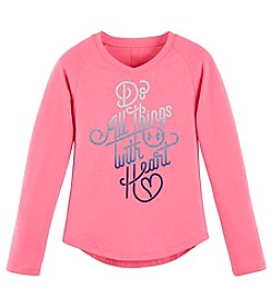 Under Armour® Girls' 2T-6X Long Sleeve With Heart Tee