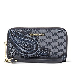 MICHAEL Michael Kors KORS STUDIO Paisley Jet Set Travel Large Flat Phone Case