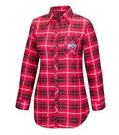 J. America® NCAA® Ohio State Buckeyes Women's Fireside Flannel Sleep Shirt