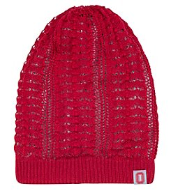 J. America® NCAA® Ohio State Buckeyes Women's Crochet Skully Reversible Knit Hat