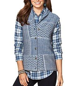 Chaps® Patchwork Sweater Vest