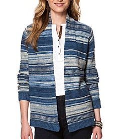 Chaps® Long Sleeve Striped Cardigan