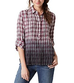 Vintage America Blues™ Plaid Crinkle Top