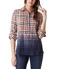 Vintage America Blues™ Brooke Sunset Plaid Top