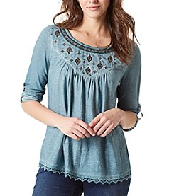 Vintage America Blues™ Chestnut Embroidered Top