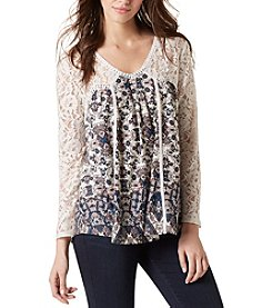 Vintage America Blues™ Ripple Embroidered Motif Top