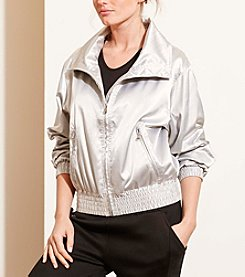 Lauren Active® Metallic Funnelneck Jacket