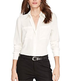 Lauren Ralph Lauren® Satin Long-Sleeve Shirt