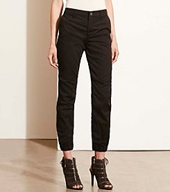 Lauren Ralph Lauren® Twill Tapered-Leg Pants