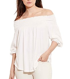 Lauren Ralph Lauren® Plus Size Smocked Off-The-Shoulder Top