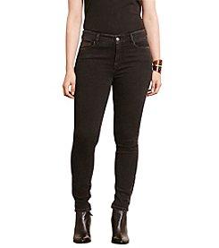 Lauren Ralph Lauren® Plus Size Zip-Cuff Skinny Jeans