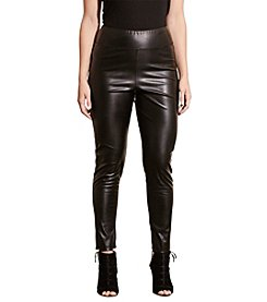 Lauren Ralph Lauren® Plus Size Faux-Leather Leggings
