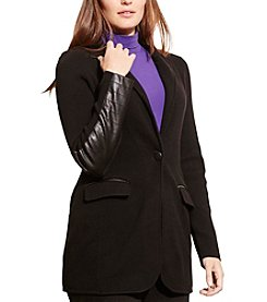 Lauren Ralph Lauren® Plus Size Knit Cotton-Blend Jacket
