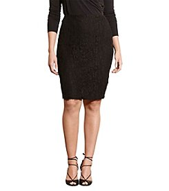 Lauren Ralph Lauren® Plus Size Lace Pencil Skirt