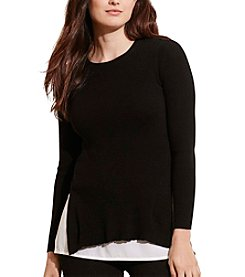 Lauren Ralph Lauren® Plus Size Layered Cotton Sweater