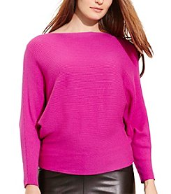 Lauren Ralph Lauren® Plus Size Cotton-Blend Dolman Sweater