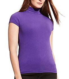 Lauren Ralph Lauren® Plus Size Jersey Short-Sleeve Turtleneck
