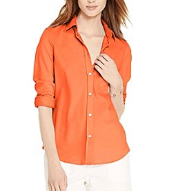 Lauren Ralph Lauren® Petites' Cotton Pique Shirt