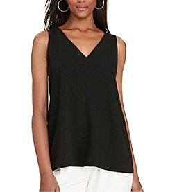 Lauren Ralph Lauren® Petites' Color-Blocked Crepe Top