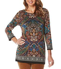 Rafaella® Engineered Print Tunic