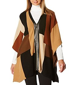 Rafaella® Color Block Poncho