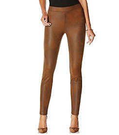 Rafaella® Distressed Faux Suede Leggings