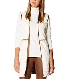 Rafaella® Textured Faux Fur Vest