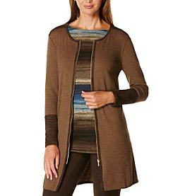 Rafaella® Zip Front Cardigan