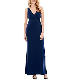 Laundry by Shelli Segal® Embellished Waist Gown
