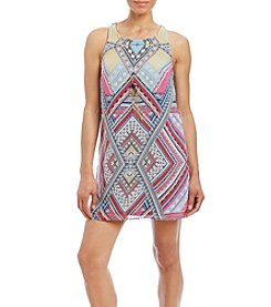 A. Byer Printed Sheath Dress