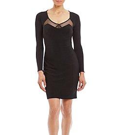 Morgan & Co.® Long Sleeve Illusion Bodycon Dress