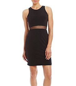 Morgan & Co.®  Side Cut Out Illusion Dress
