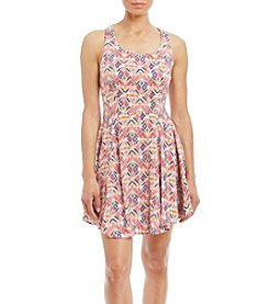 Be Bop Sleeveless Zip-Back Skater Dress