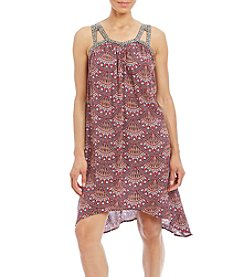 Pink Rose® Gauze Printed Shift Dress